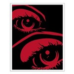 Spooky Red Eyes Small Poster