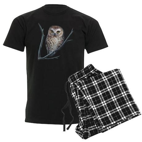 saw-whet owl Men's Dark Pajamas