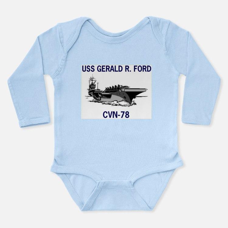 USS GERALD R. FORD Long Sleeve Infant Bodysuit