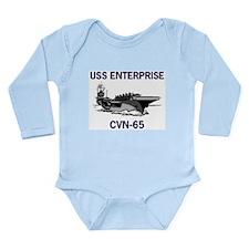 USS ENTERPRISE Long Sleeve Infant Bodysuit