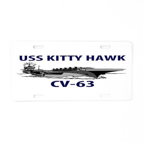 USS KITTY HAWK Aluminum License Plate