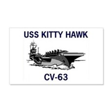 USS KITTY HAWK 22x14 Wall Peel
