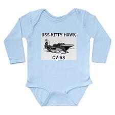 USS KITTY HAWK Long Sleeve Infant Bodysuit