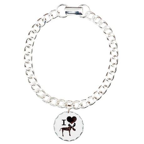 I heart Moose Charm Bracelet, One Charm