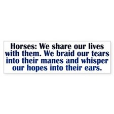 Importance of Horses Car Sticker