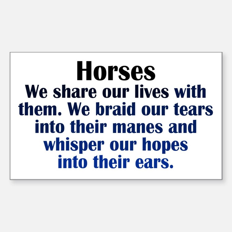 Importance of Horses Decal