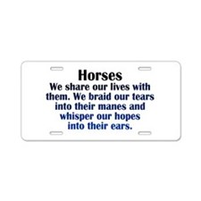 Importance of Horses Aluminum License Plate
