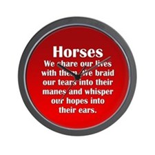Importance of Horses Wall Clock