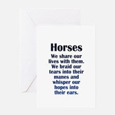 Importance of Horses Greeting Card