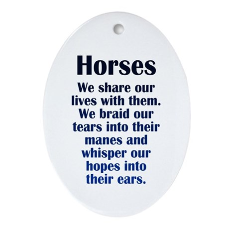 Importance of Horses Ornament (Oval)