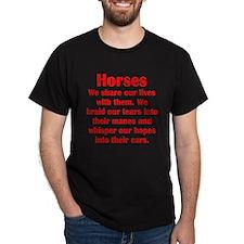 Importance of Horses T-Shirt