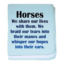 Importance of Horses baby blanket