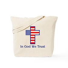 Cute God we trust Tote Bag