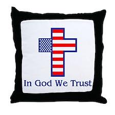 Cute Trust jesus Throw Pillow
