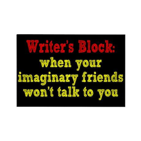 Writer's Block Rectangle Magnet