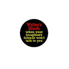 Writer's Block Mini Button