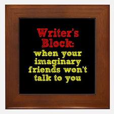 Writer's Block Framed Tile