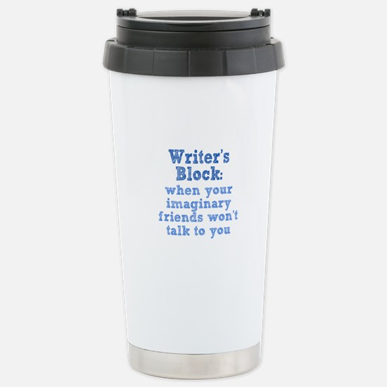 Writer's Block Stainless Steel Travel Mug