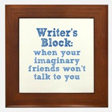 Writer's Block Framed Tile