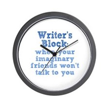 Writer's Block Wall Clock