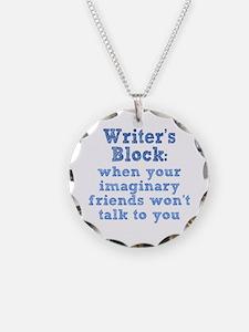 Writer's Block Necklace