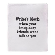Writer's Block Throw Blanket