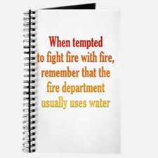 Fighting Fire with Fire Journal