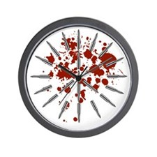 Cool Blood splatter Wall Clock