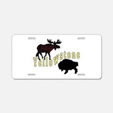 Bison Moose Yellowstone Aluminum License Plate