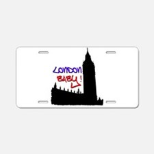 London Baby Friends white Aluminum License Plate