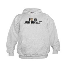 I Love My Army Specialist Hoodie