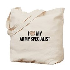 I Love My Army Specialist Tote Bag