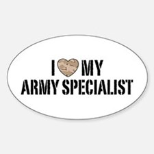 I Love My Army Specialist Decal