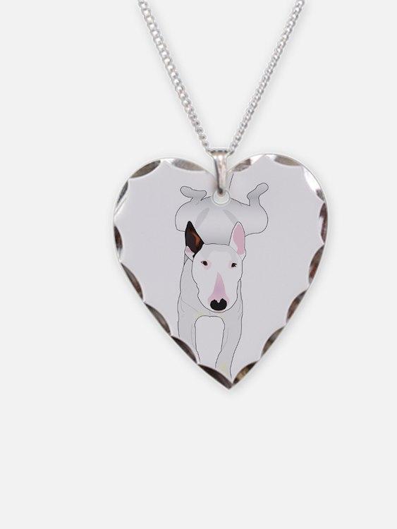 Cute Bull terrier Necklace Heart Charm