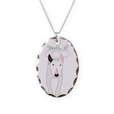 Unique Bull terrier Necklace Oval Charm