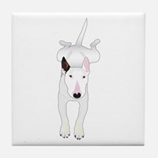 Cute Bull terrier Tile Coaster