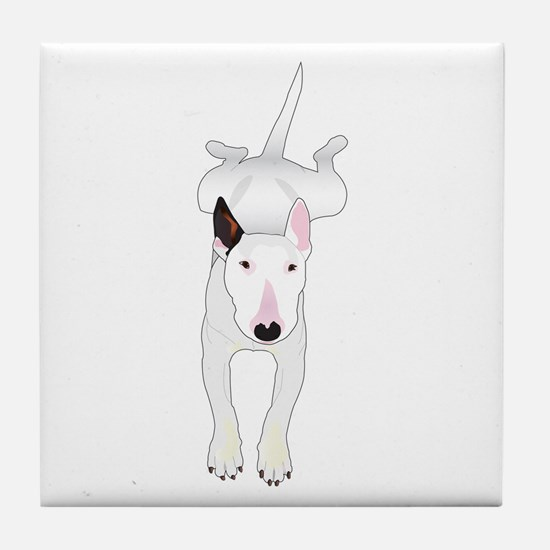 Cute Bull terrier Tile Coaster