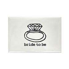 Bride To Be Bling Rectangle Magnet