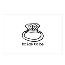 Bride To Be Bling Postcards (Package of 8)