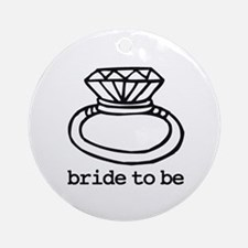 Bride To Be Bling Ornament (Round)