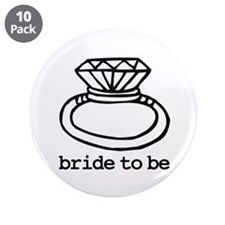 "Bride To Be Bling 3.5"" Button (10 pack)"
