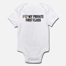 I Love My Private First Class Infant Bodysuit