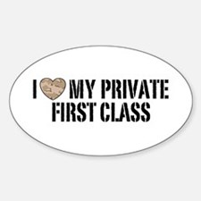 I Love My Private First Class Decal