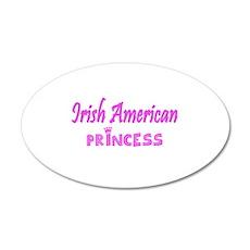 Irish American princess 22x14 Oval Wall Peel