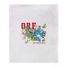 OLD RETIRED FART Twin Engine Throw Blanket