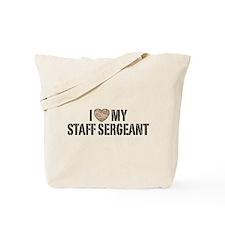 I Love My Staff Sergeant Tote Bag