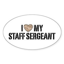 I Love My Staff Sergeant Decal
