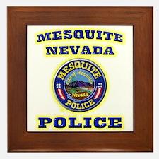 Mesquite Police Framed Tile