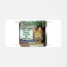Unique Animal welfare Aluminum License Plate