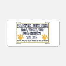 Cool Animal welfare Aluminum License Plate